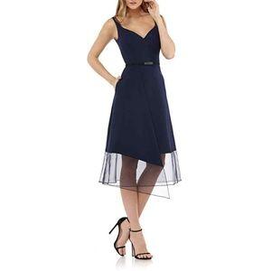 Kay Unger Women's Sleeveless Stretch Crepe Dress